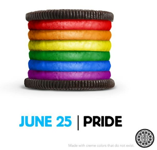 Oreos love gay people?  Sorry, I'm not buying it.